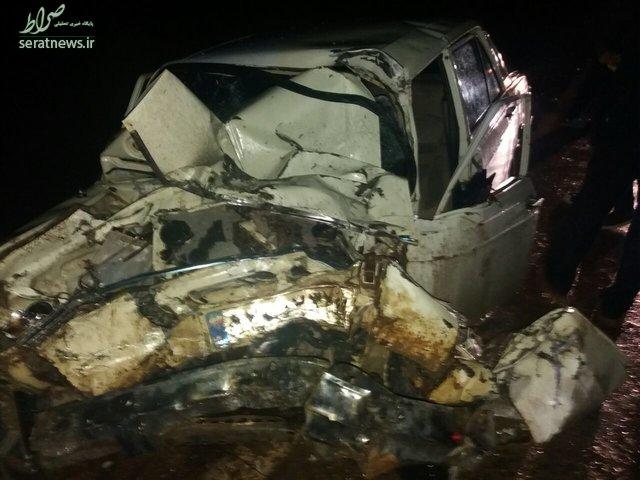 برخورد مرگبار اتوبوس با پیکان در یاسوج + تصاویر