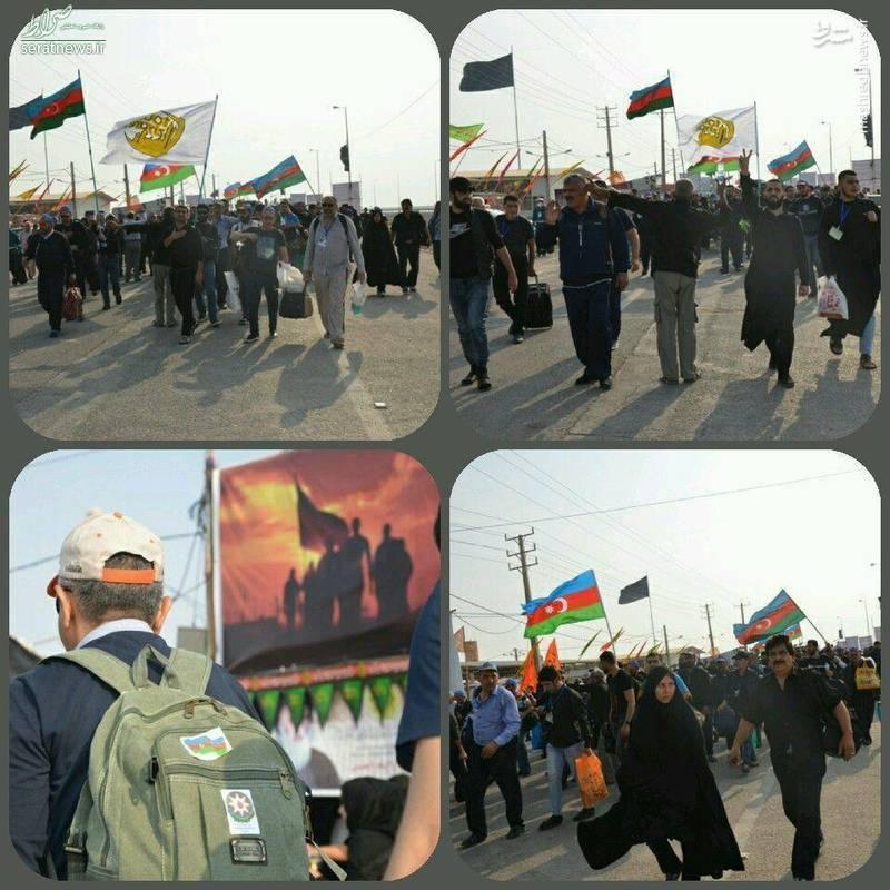 عکس/ زائران آذربایجانی در مرز شلمچه