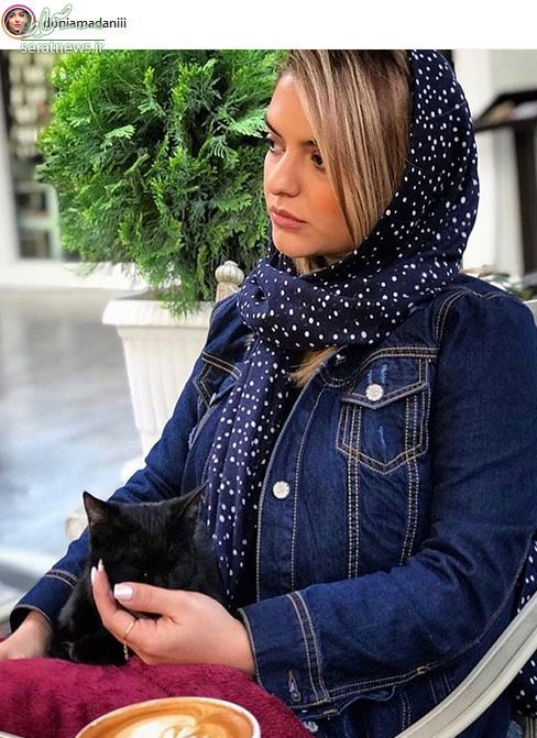 عکس/ عاشقانه های دنیا مدنی و گربه اش!
