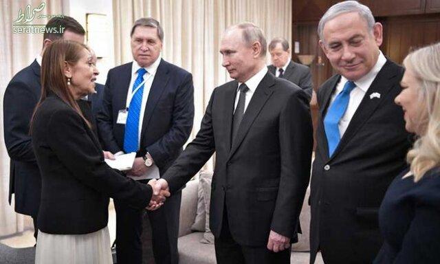 عکس/ تصویر دستهجمعی پوتین با خانواده نتانیاهو