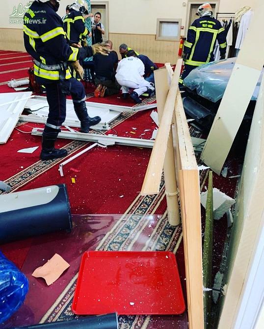 حمله یک خودرو به مسجدی در شرق فرانسه! +تصاویر