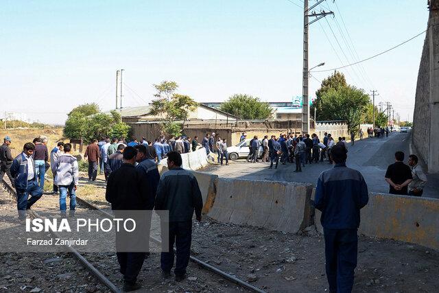تصاویر/ تجمع کارگران آذراب
