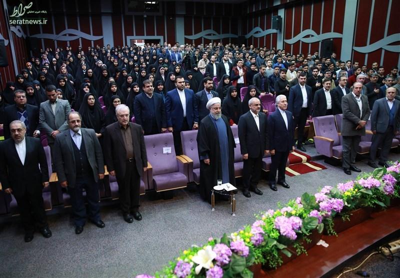 تصاویر/ حضور روحانی در دانشگاه فرهنگیان