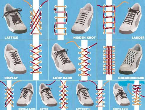 آموزش تصویری 15 روش برای بستن بند ...