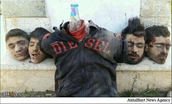داعش 4 تن را به اتهام دروغین ذبح کرد (عکس18+)