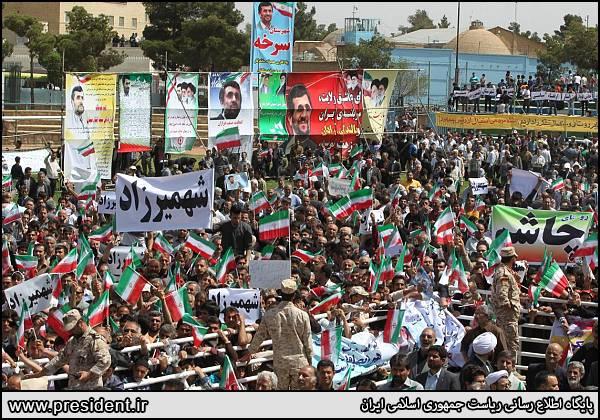 غیبت توجیه دستور استاندار برای استقبال مدیران از احمدی نژاد