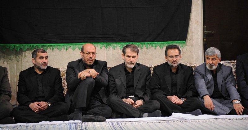 رفقای احمدینژاد در کنار وزیر روحانی