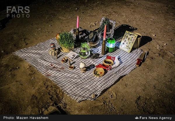 عکس/ لحظات تحویل سال در شلمچه
