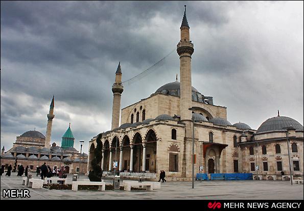 تصاویر نقاشی کعبه تصاویر/ مقبره مولانا در قونیه