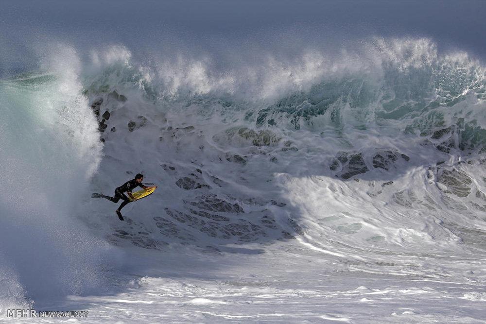 عکس/ امواجی که موج سوار را به کام خود کشید