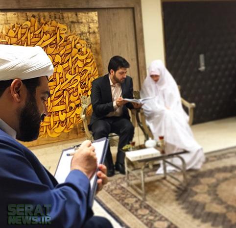 عکس/ مراسم عقد در دفتر شهاب مرادی