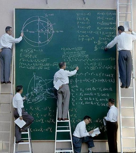 عکس/دانشمندانناسا درحال حل معادله