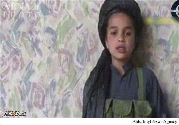 اعلام جنگ کوچکترین عضو طالبان +عکس