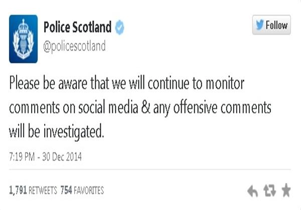 اخطار جالب پلیس اسکاتلند به کاربران آنلاین +عکس