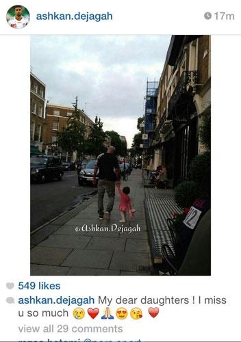دل ستاره تیمملی برای دخترش تنگ شده! +عکس