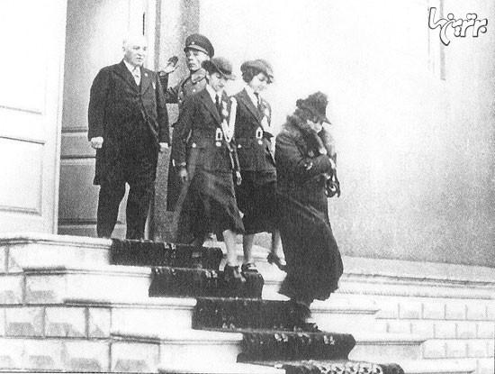 عکس/ خانواده رضاخان پس ازکشف حجاب