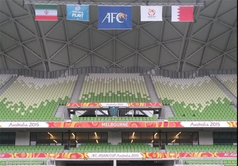 عکس/ پرچم ایران در ورزشگاه ملبورن