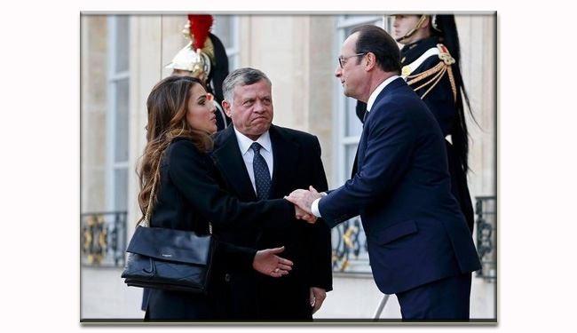 ملک عبدالله در پاریس غیرتی شد +عکس
