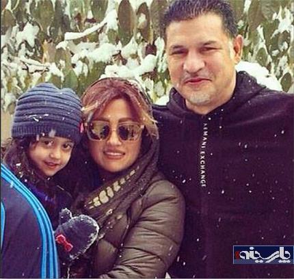 عکس/ دایی در کنار همسر و دخترش