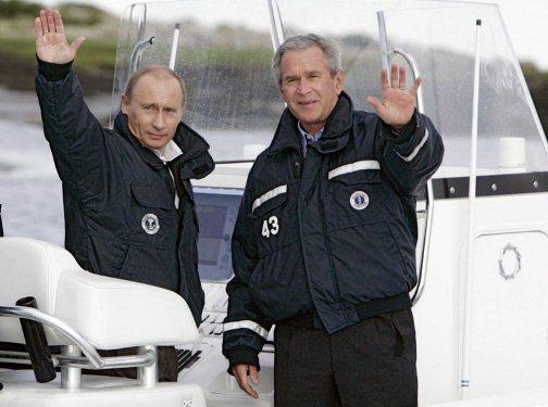 خاطرات بوش از ماهیگیری با پوتین+عکس