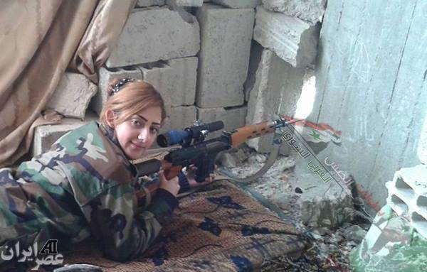 عکس/ تک تیرانداز زن سوری