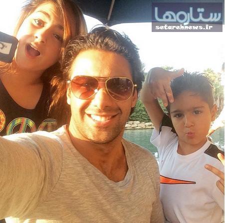 عکس/ سلفی فرهاد مجیدی و فرزندانش