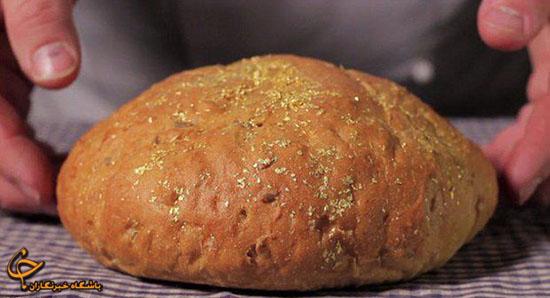 تصاویر/ پخت نان با طلا در اسپانیا