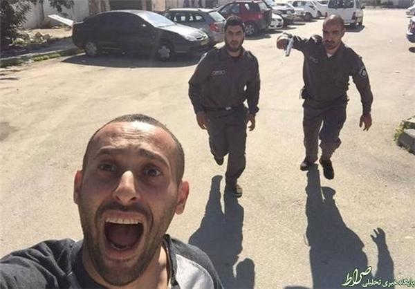 سلفی یک فلسطینی هنگام فرار از دست صهیونیستها +عکس