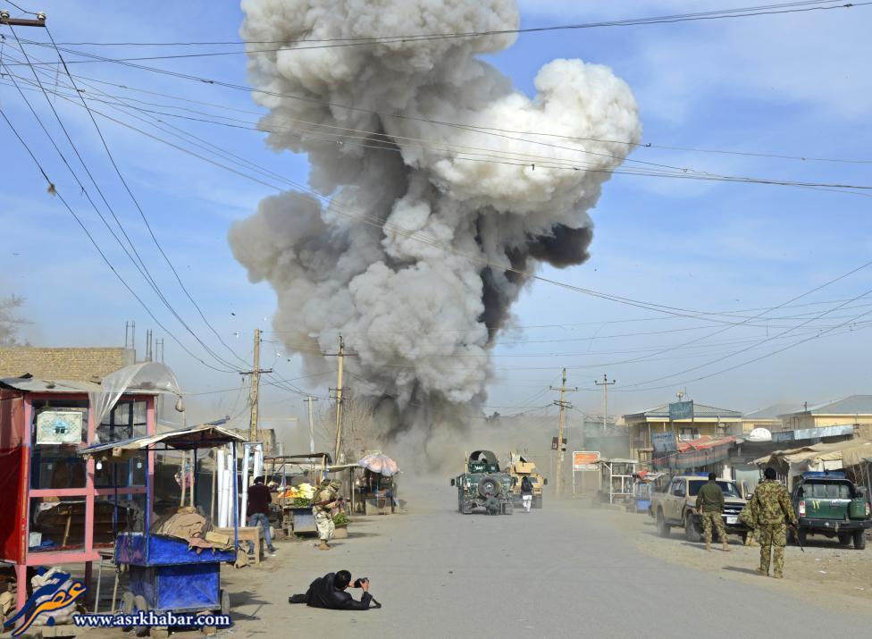 عکس/ لحظه انفجار بمب در افغانستان