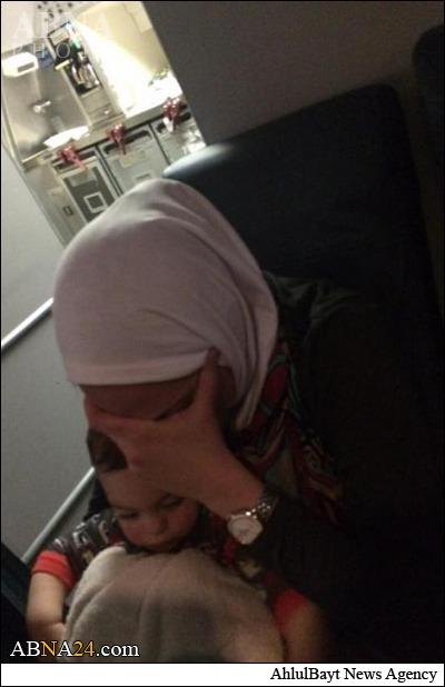 اهانت به زن مسلمان در هواپیما +عکس