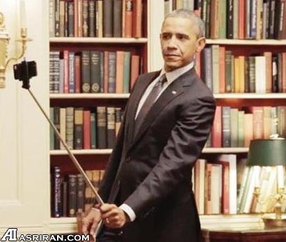 عکس/ ژست اوباما برای گرفتن سلفی