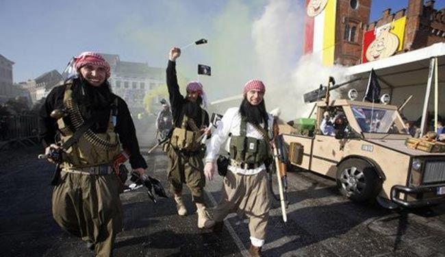 جولان داعش درخیابانهای بلژیک +تصاویر