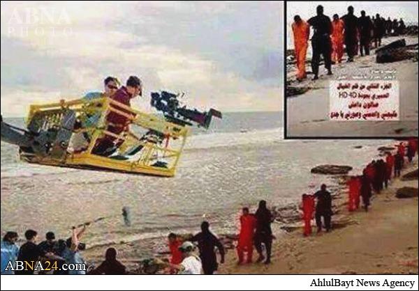 پشتصحنه فیلم ذبح ۲۱ مصری+عکس