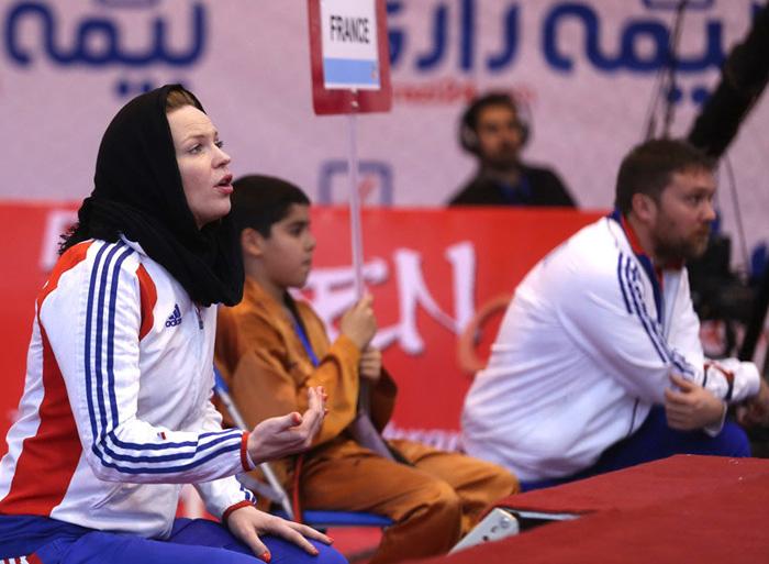 مربی زن تیم تکواندوی مردان فرانسه +تصاویر