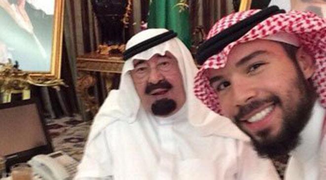عکس/ سلفی ملک عبدالله و پسرش