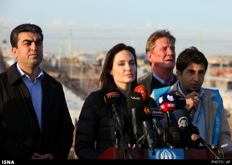 گلایه آنجلیناجولی از جامعه بینالملل در عراق +عکس