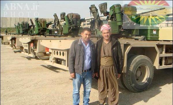 تصاویر/ ورود 5ضدهوایی فرانسوی به عراق