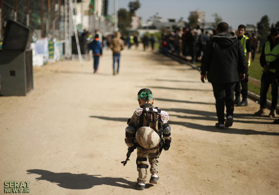 عکسی جالب از کودک فلسطینی