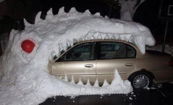 جالبترین سرگرمیها هنگام بارش برف + تصاویر