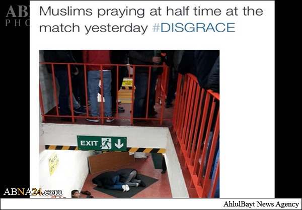 اهانت هوادار لیورپول به مسلمانان +عکس