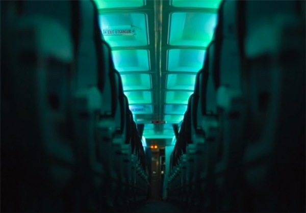 شفق شمالی در کابین هواپیما+تصاویر