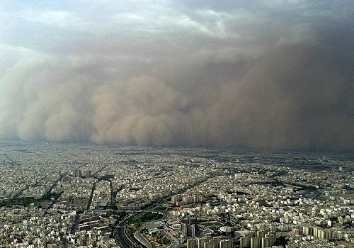 تصاویر/لحظه ورود طوفان به تهران