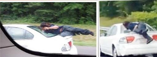 حمله به یک اتومبیل در بزرگراه +عکس