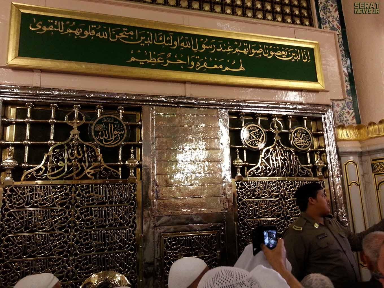 درون مقبره پیامبر(ص) چگونه است؟