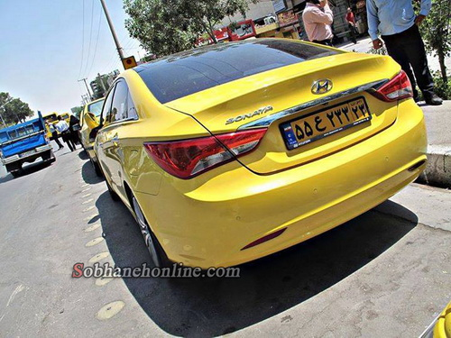 تصاویر/ تاکسی سوناتا در اصفهان