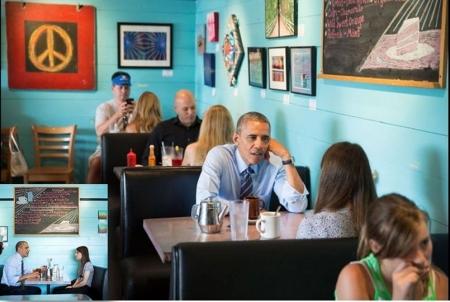 عکس/ دختری که اوباما با او قرار گذاشت
