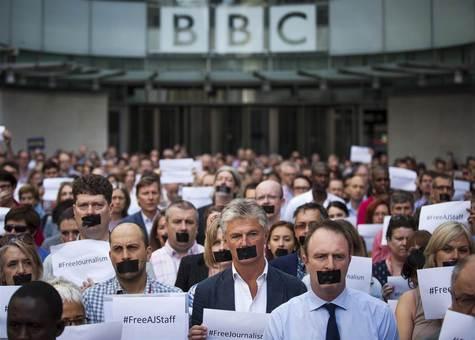 عکس/ اعتصاب کارکنان بیبیسی