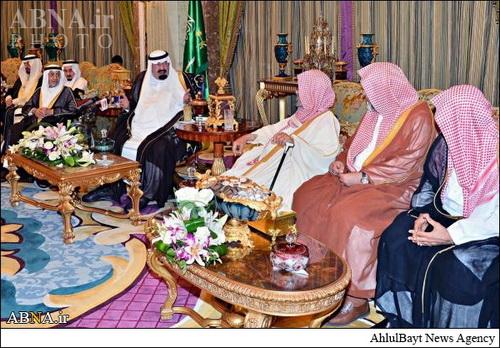 جلسه اضطراری پادشاه عربستان+تصاویر