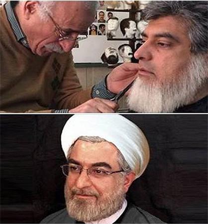 گریم یک بازیگر برای ایفای نقش حسن روحانی +عکس