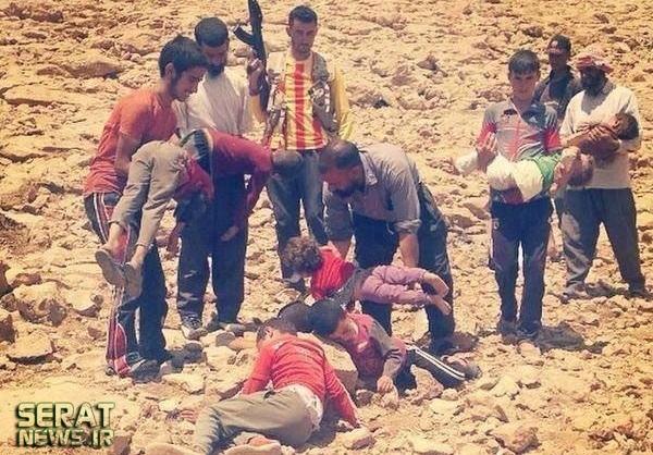 عکسی دلخراش از مرگ کودک عراقی